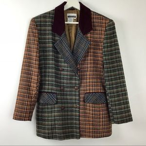Vintage Contempo Casuals Plaid Blazer Jacket M